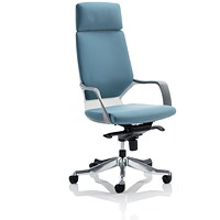 Adroit Xenon Executive Chair, Blue on White