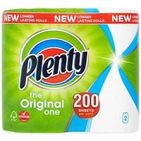 Plenty Kitchen Roll, 2-Ply, Pack of 2