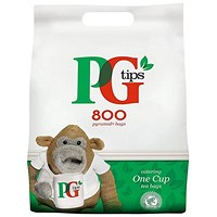 PG Tips 1 Cup Tea Bags - Pack 800