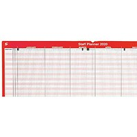 5 Star 2020 Staff Planner, Mounted, 915x610mm