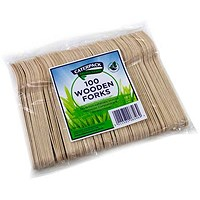 Robinson Young Natural Birchwood Forks - Pack of 100