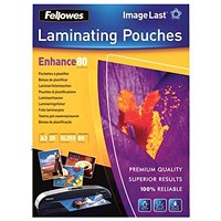 Fellowes A3 Laminating Pouches / Thin / 160 Micron / Glossy / Pack of 25