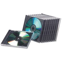 Fellowes Slimline CD Jewel Case, Clear, Pack 25