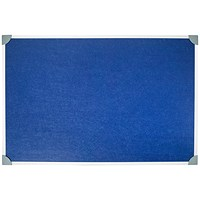 5 Star Noticeboard, Aluminium Trim, W900mmxH600mm, Blue