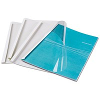 Fellowes Thermal Binding Covers, A4, Clear Front, White Rear, Pack of 100