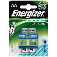 Energizer Rechargeable Battery, NiMH Capacity 2300mAh HR6, 1.2V, AA, Pack of 2