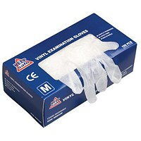 Everyday Clear Vinyl Gloves, Medium, 50 Pairs