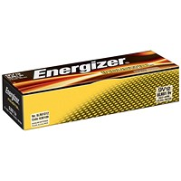Energizer 6LR61 Long Life Industrial Battery, 9V, Pack of 12