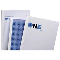 GBC Thermal Binding Covers, 3mm, Front: Clear, Back: Gloss White, A4, Pack of 100