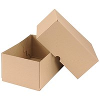 Self Locking Box Carton and Lid, A4, 305x215x150mm, Brown, Pack of 10