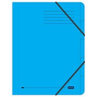 Elba Boston Elasticated Files / 5-Part / Foolscap / Blue / Pack of 5