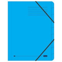 Elba Boston Elasticated Files, 9-Part, Foolscap, Blue, Pack of 5
