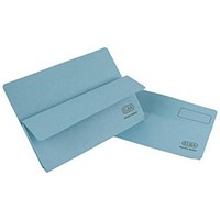 Elba Open Top Wallets, Large Gusset, Foolscap, Blue, Pack of 50
