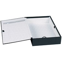 Concord Classic Box File, 75mm Spine, Foolscap, Black, Pack of 5