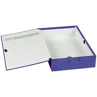 Concord Contrast Laminated Box File, 75mm Spine, Foolscap, Purple, Pack of 5