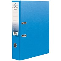 Concord Classic A4 Lever Arch Files, Printed Lining, Blue, Pack of 10