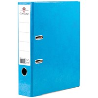 Concord Contrast A4 Lever Arch Files, Laminated, Sky Blue, Pack of 10