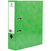 Concord Contrast A4 Lever Arch Files, Laminated, Lime, Pack of 10
