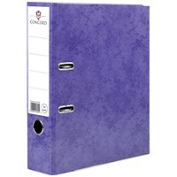Concord Contrast A4 Lever Arch Files, Laminated, Purple, Pack of 10
