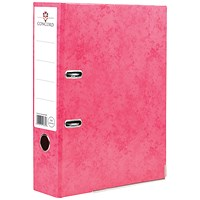 Concord Contrast A4 Lever Arch Files, Laminated, Raspberry, Pack of 10