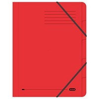 Elba Boston Elasticated Files, 5-Part, Foolscap, Red, Pack of 5