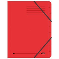 Elba Boston Elasticated Files / 9-Part / Foolscap / Red / Pack of 5
