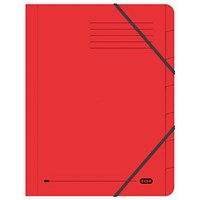 Elba Boston Elasticated Files, 7-Part, Foolscap, Red, Pack of 5