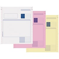 Sage Compatible 3 Part Invoice NCR Paper, Tinted Copies, Pack of 750