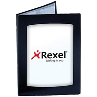 Rexel Clearview Display Book, A4, 24 Pockets, Black