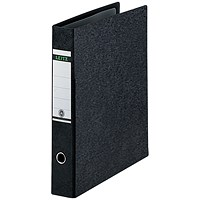 Leitz Board A3 Lever Arch Files, Portrait, 77mm Spine, Black, Pack of 2