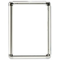 5 Star Clip Display Frame Aluminium with Fixings Front-loading A3 297x13x420mm Silver