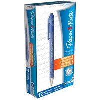 Paper Mate Flexgrip Retractable Ball Pen, Blue, Pack of 12