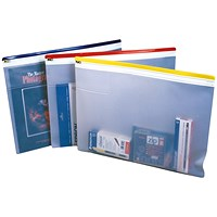 A4 Heavyduty Zip Filing Pouches / Assorted Seal / Pack of 10