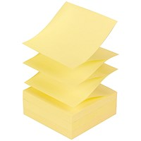 Post-it Z Notes, 76x 76mm, Canary Yellow, Pack of 12 x 100 Notes
