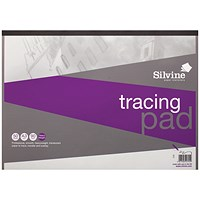 Silvine Professional Tracing Pad, A3, 90gsm, 50 Sheets