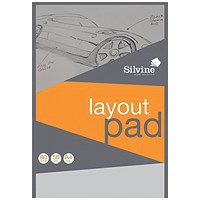 Silvine Layout Pad, A4, Acid Free, 50gsm, 80 Sheets