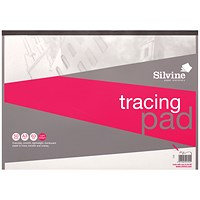 Silvine Tracing Pad, A3, Acid Free, 50gsm, 50 Sheets