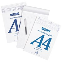 Vestry Accountants Pad, A4, 8 Cash Columns, 80 Leaf, Ref: CV2064