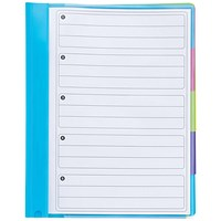 Rexel Joy A4 5-Part File, Colour-coded Indexed Sections, Opaque