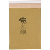 Jiffy No.4 Padded Bag Envelopes, 240x320mm, Brown, Pack of 100