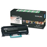 Lexmark X264A11G Black Laser Toner Cartridge