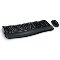 Microsoft 5000 Wireless Comfort Curve Keyboard & Mouse - Black