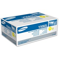 Samsung CLT-Y5082L High Yield Yellow Laser Toner Cartridge