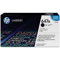 HP 647A Black Laser Toner Cartridge