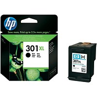 HP 301XL High Yield Black Ink Cartridge
