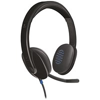 Logitech H540 USB Headset - Laser-tuned Speakers with On-ear Controls