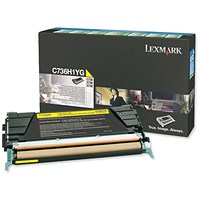 Lexmark C736H1YG Yellow Laser Toner Cartridge