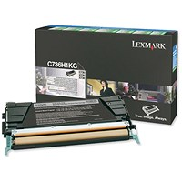 Lexmark C736H1KG Black Laser Toner Cartridge