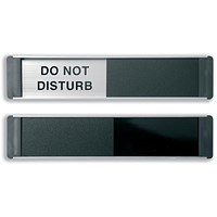 Stewart Superior Do Not Disturb Sliding Door Plate Panel Aluminium/PVC W255xH52mm Self-adhesive