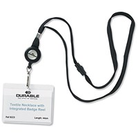 Durable Necklace Reel for Name Badges with Safety Closure - Pack of 10